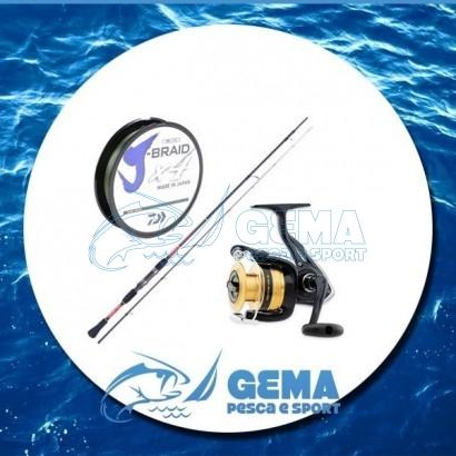 Kit Pesca Eging Canna Mulinello e Trecciato