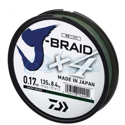 Trecciato Daiwa J Braid X4