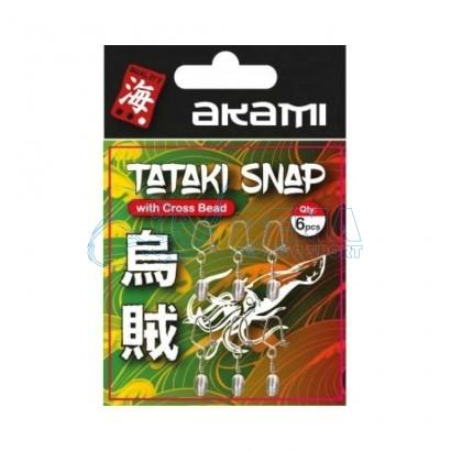 Tataki Snap Witk Cross Bead