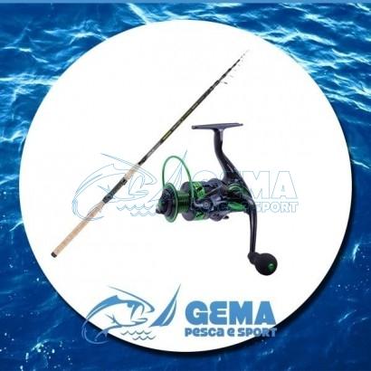 Kit pesca Tele Match Canna e Mulinello